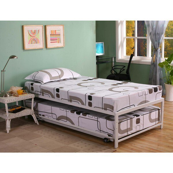 Best Shop K B Hi Riser Twin Bed With Pop Up Trundle On Sale With Pictures