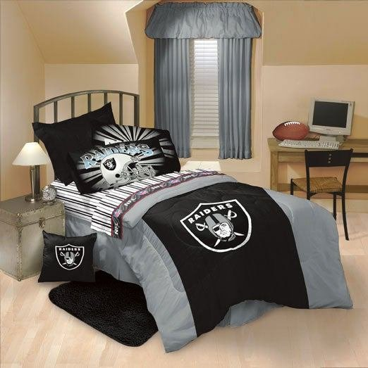 Best Oakland Raiders Comforter And Sheet Set Free Shipping With Pictures