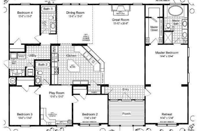 Best Mobile Home Floor Plans Triple Wide Bestofhouse Net 27818 With Pictures