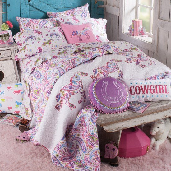 Best Girls Horse Bedding Cowgirl Theme Bedroom Pony Bedding With Pictures
