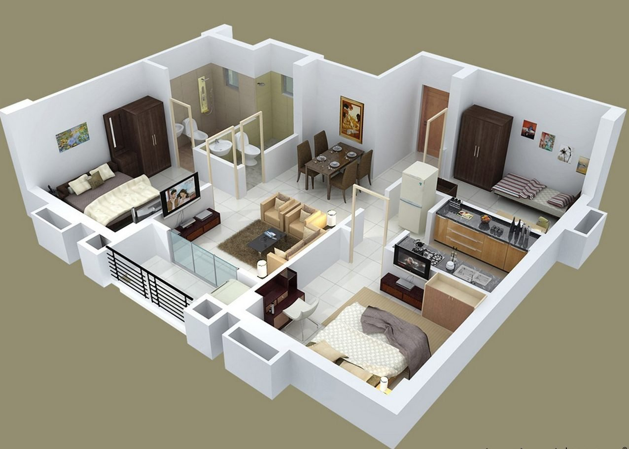 Best Fascinating 3 Bedroom 2 Bath House Plans — The Wooden Houses With Pictures