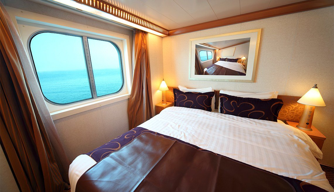Best Ship Cabin With Big Double Bed And Window With With Pictures