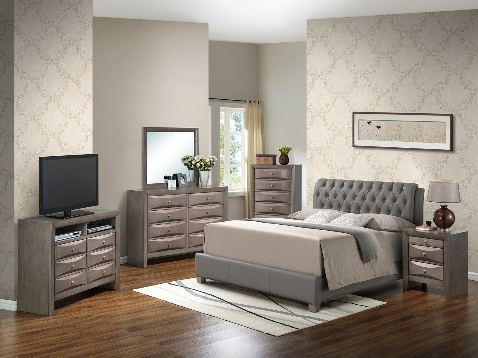 Best Glory Glory Furniture G1505C Bedroom Set In Gray G1505C With Pictures