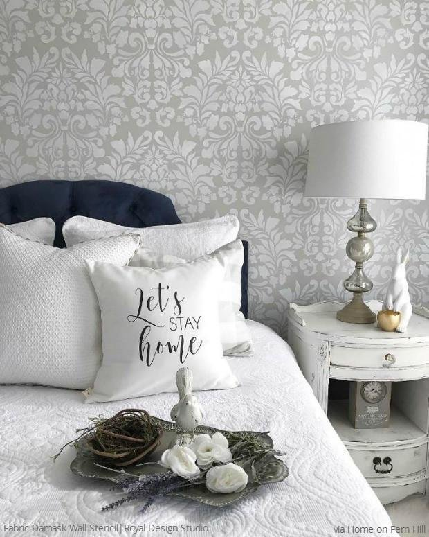 Best Bedroom Wall Stencil Designs Diy Decorating To Sleep In Style With Pictures