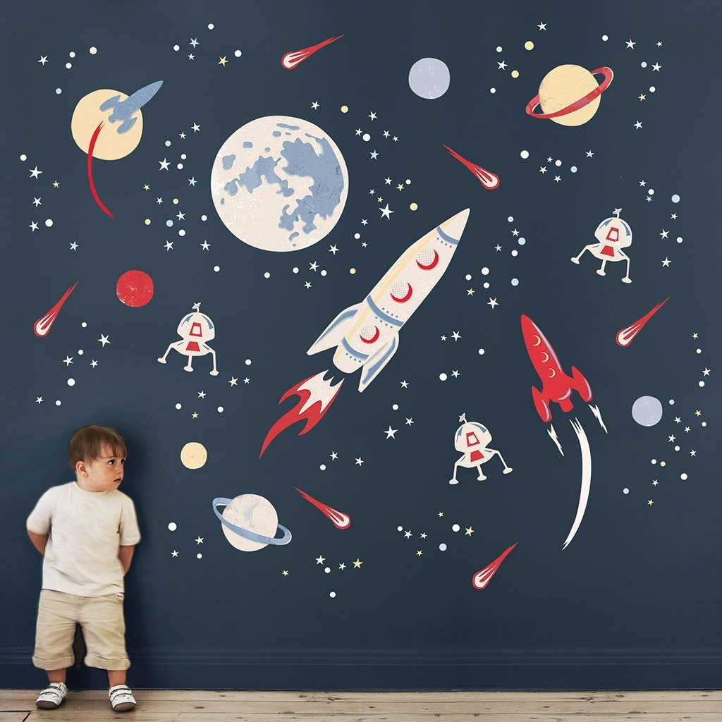 Best Space Rocket Wall Stickers Koko Kids With Pictures