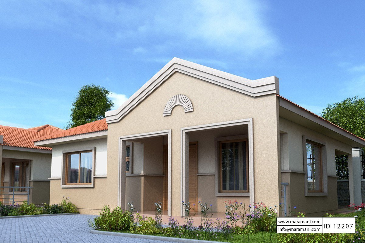 Best Two Bedrooms House Plan Id 12207 House Designs By Maramani With Pictures