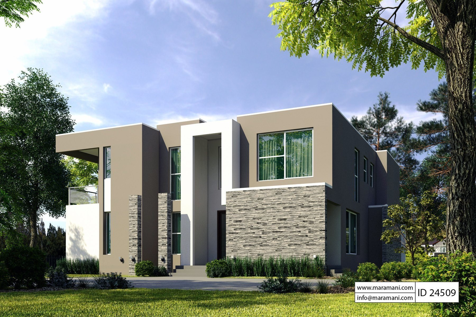 Best 4 Bedroom Modern House Plan Id 24509 House Plans By With Pictures