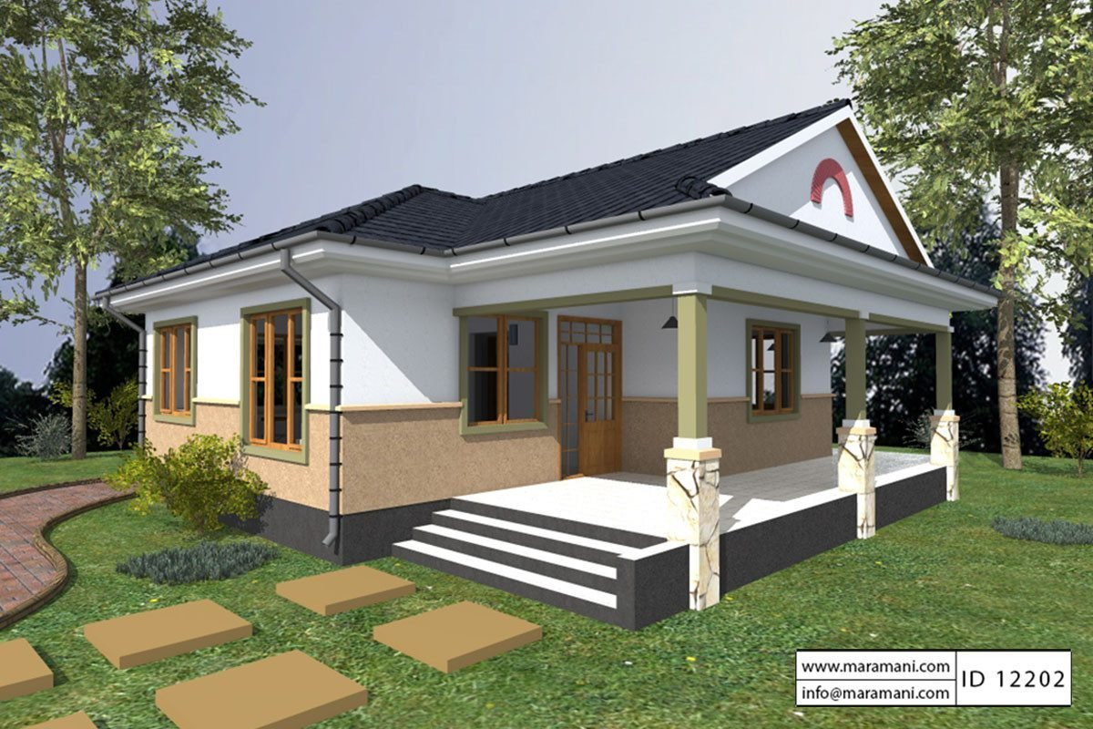 Best 2 Bedroom House Plan Id 12202 House Designs By Maramani With Pictures