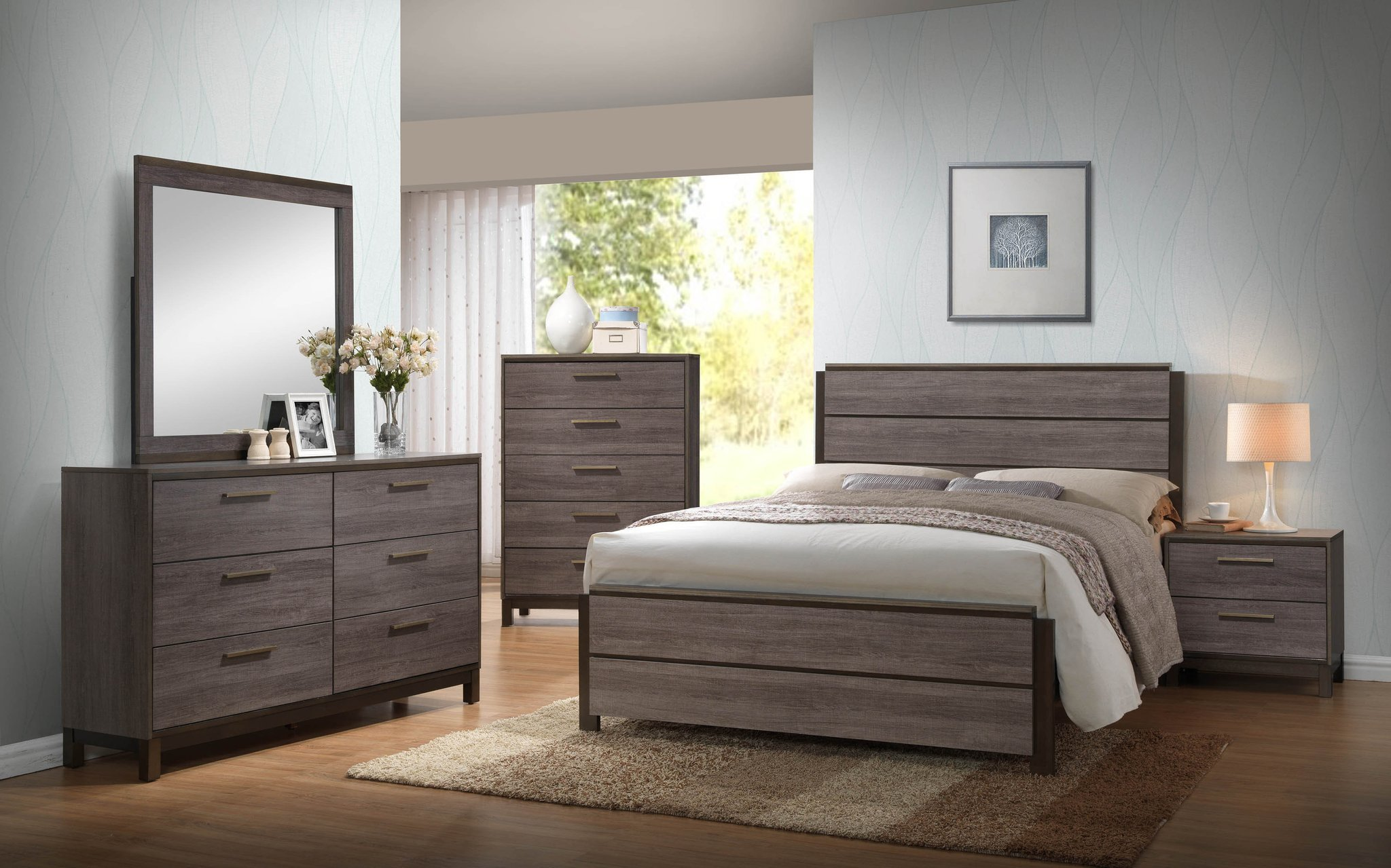Best Antique Gray Wood King Or Queen Size Configurable Modern With Pictures