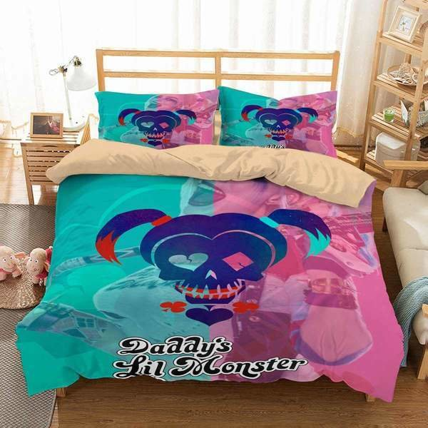 Best 3D Customize Harley Quinn Bedding Set Duvet Cover Set With Pictures