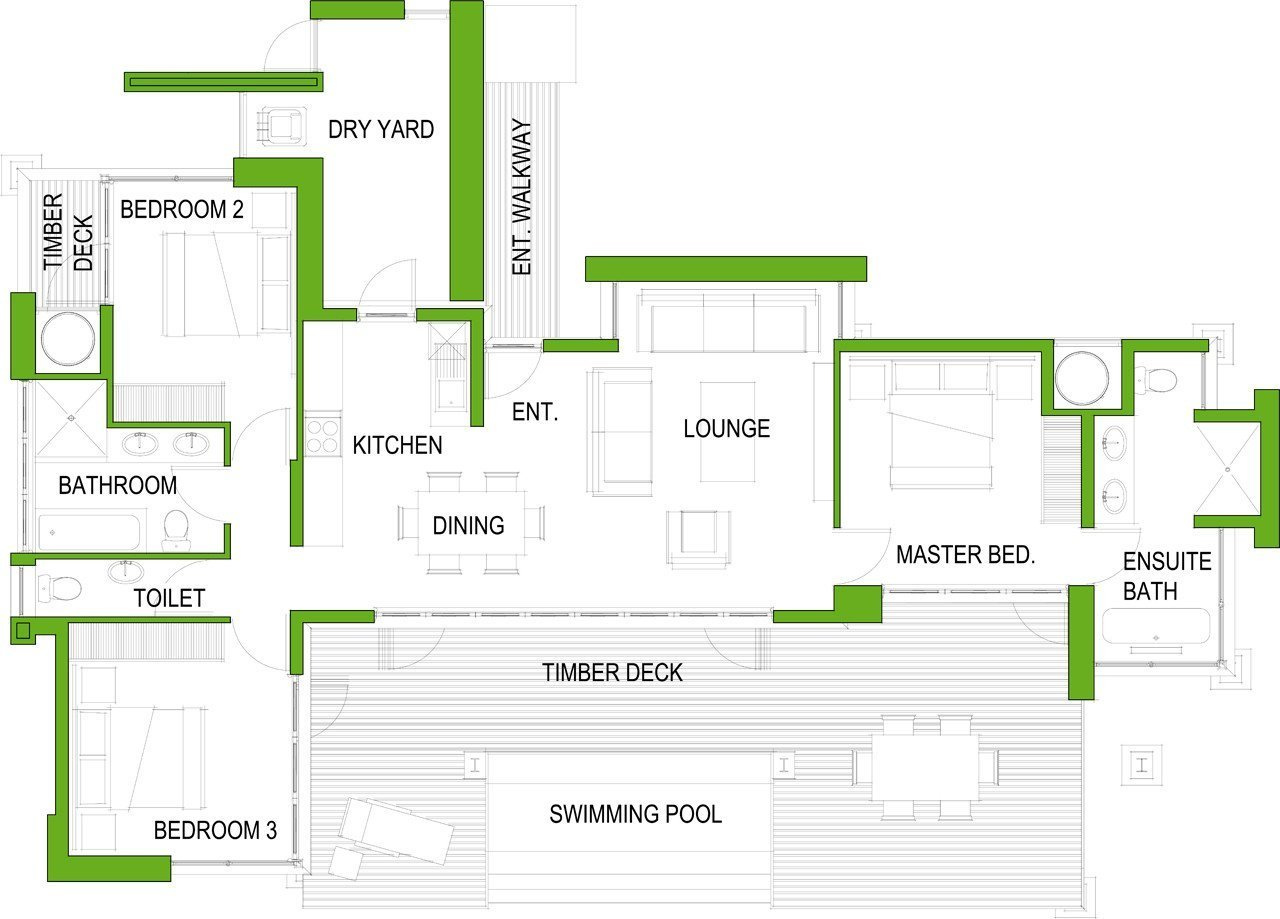 Best The 3 Bedroom House Plan – Houseplanshq With Pictures