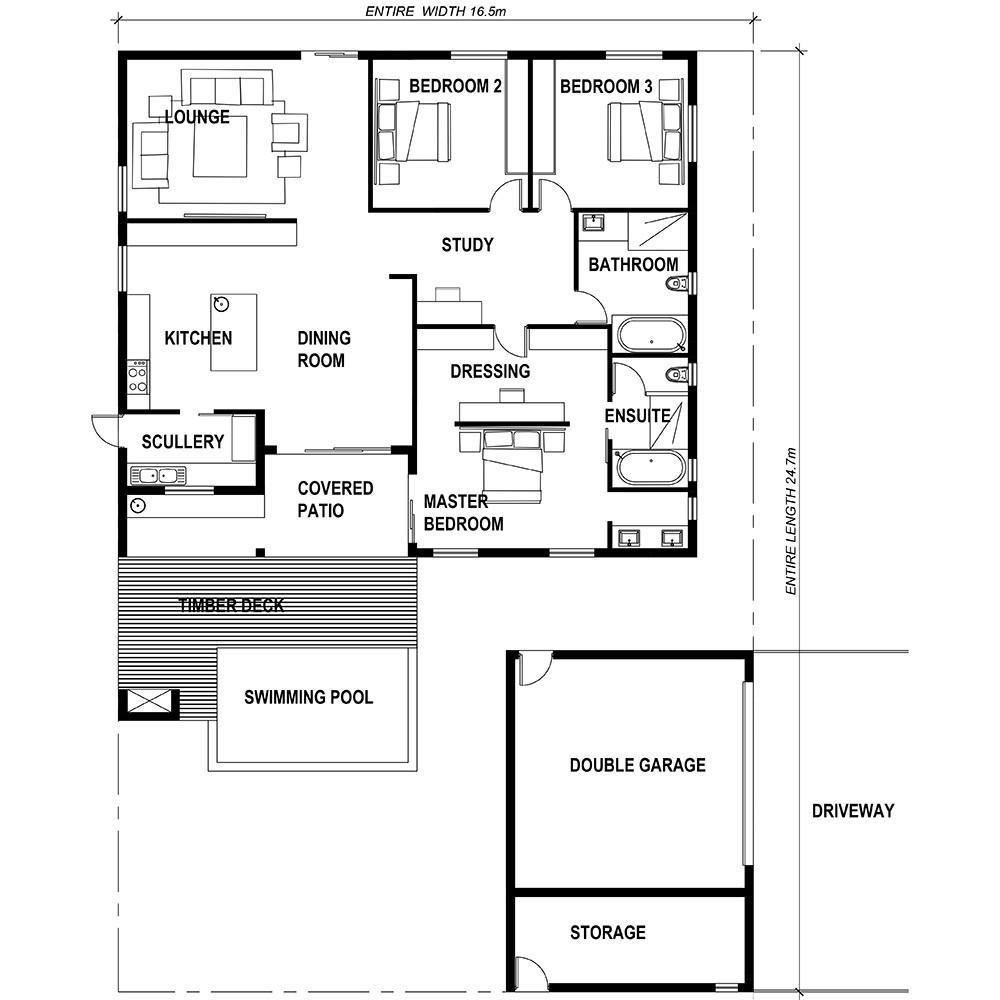Best Wilkes Way 3 Bedroom House Plan Ready2Build – Houseplanshq With Pictures
