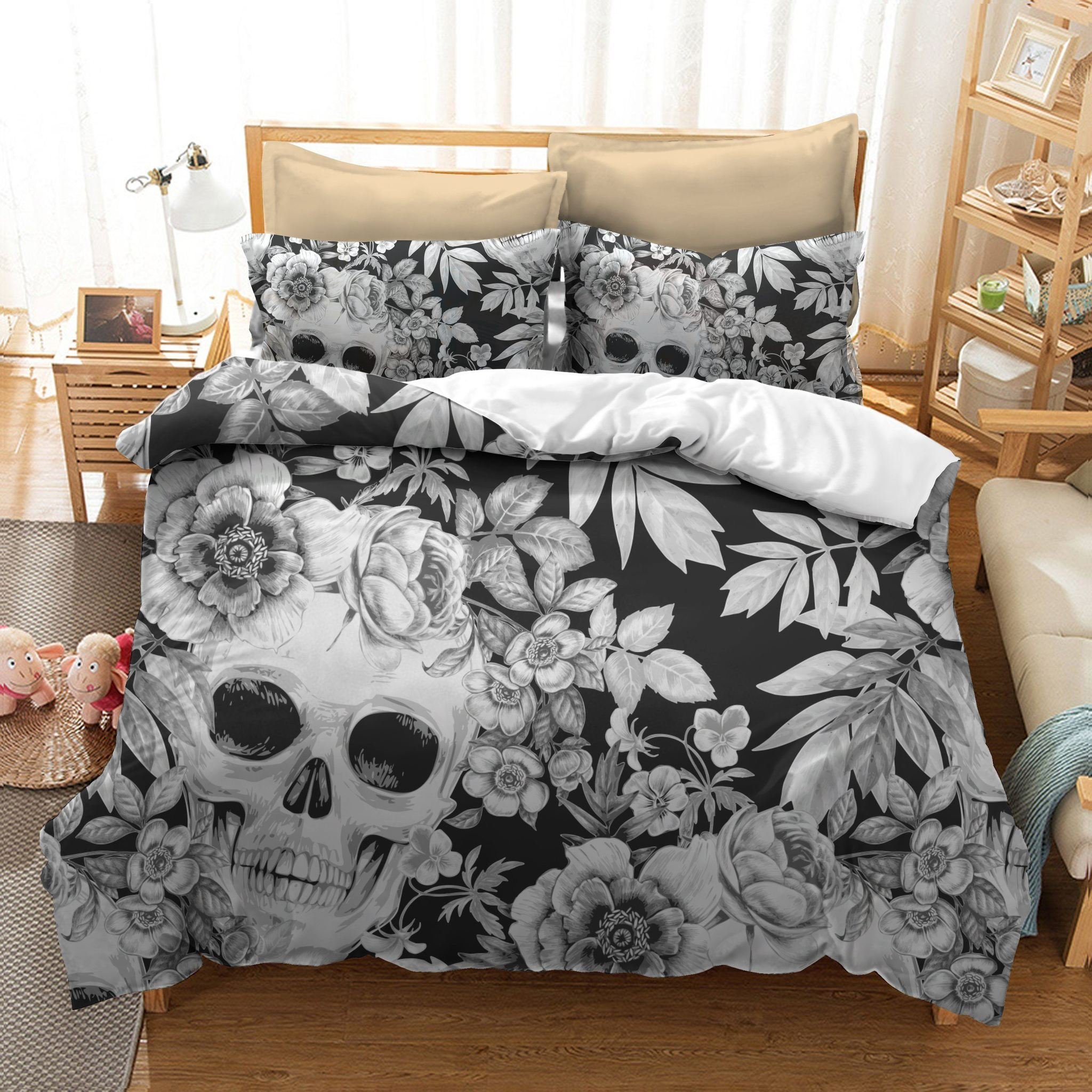 Best Sugar Skull Skull Bedding Set Skull N More Free Shipping On 100 With Pictures