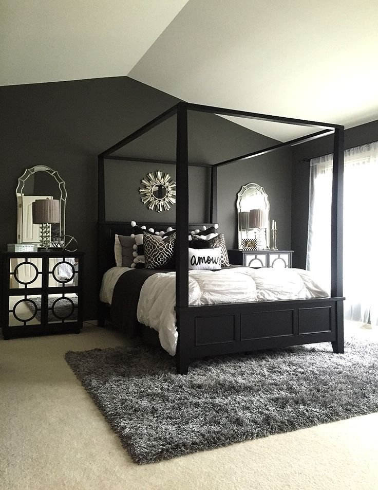 Best These 15 Black Bedrooms Will Add Just The Right Amount Of With Pictures