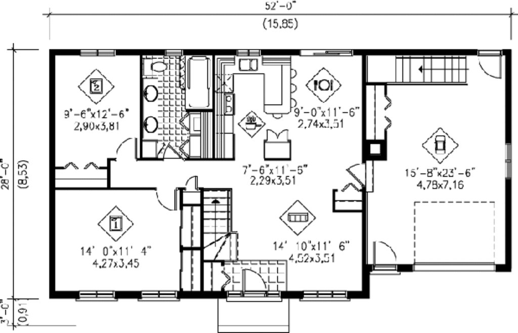 Best Ranch Style House Plan 2 Beds 1 00 Baths 1000 Sq Ft Plan With Pictures