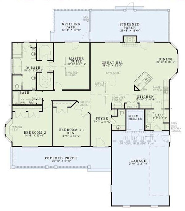Best Country Style House Plan 3 Beds 2 5 Baths 2131 Sq Ft With Pictures