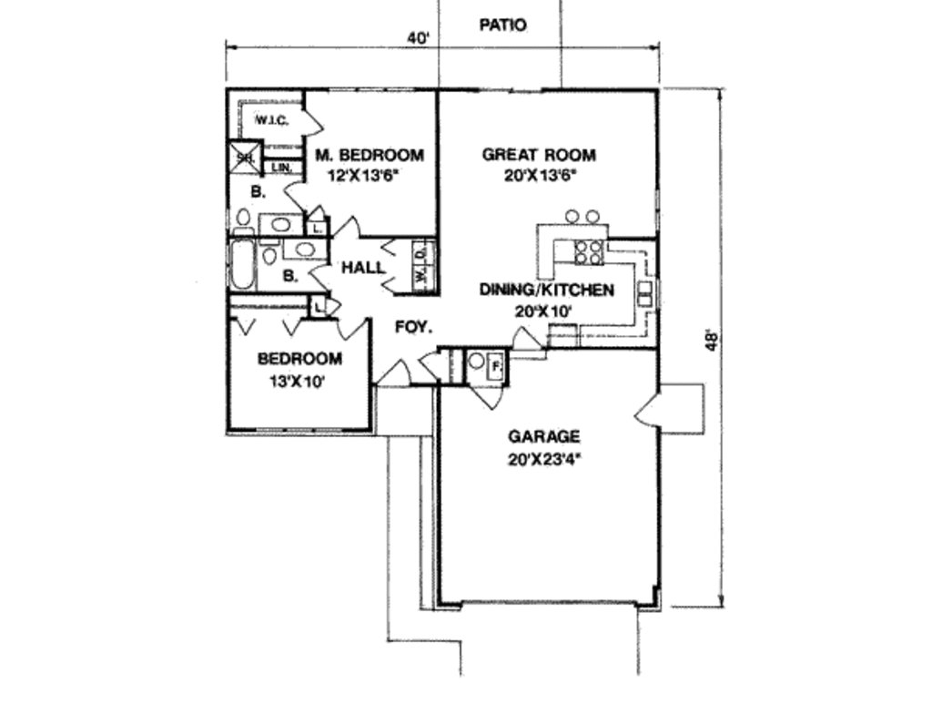 Best Ranch Style House Plan 2 Beds 2 00 Baths 1100 Sq Ft Plan With Pictures
