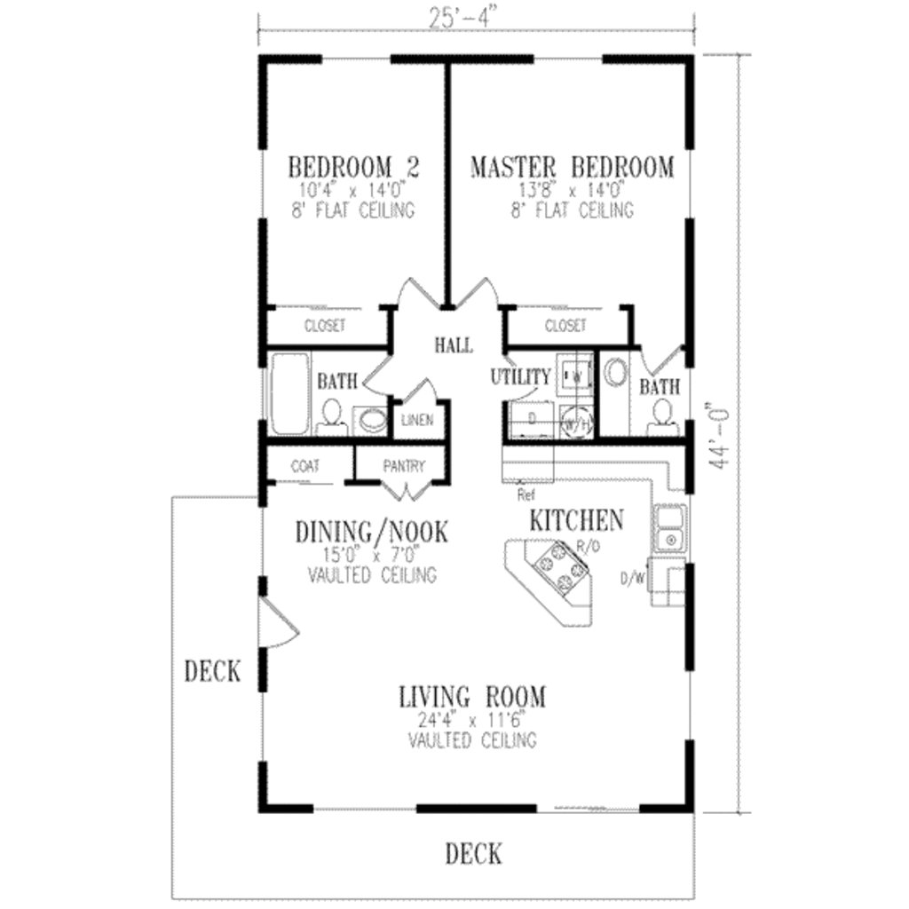 Best Ranch Style House Plan 2 Beds 1 50 Baths 1115 Sq Ft Plan With Pictures