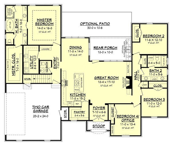 Best European Style House Plan 4 Beds 2 5 Baths 2399 Sq Ft Plan 430 142 With Pictures