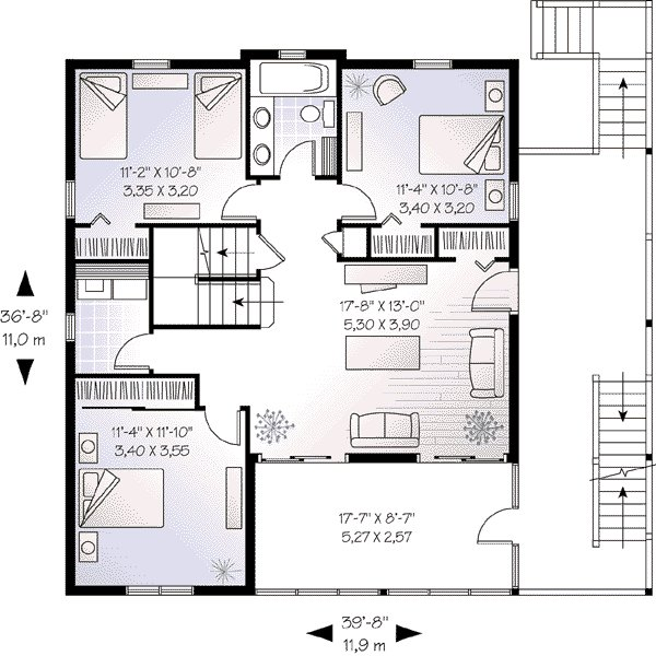 Best Beach Style House Plan 5 Beds 3 50 Baths 2392 Sq Ft Plan With Pictures