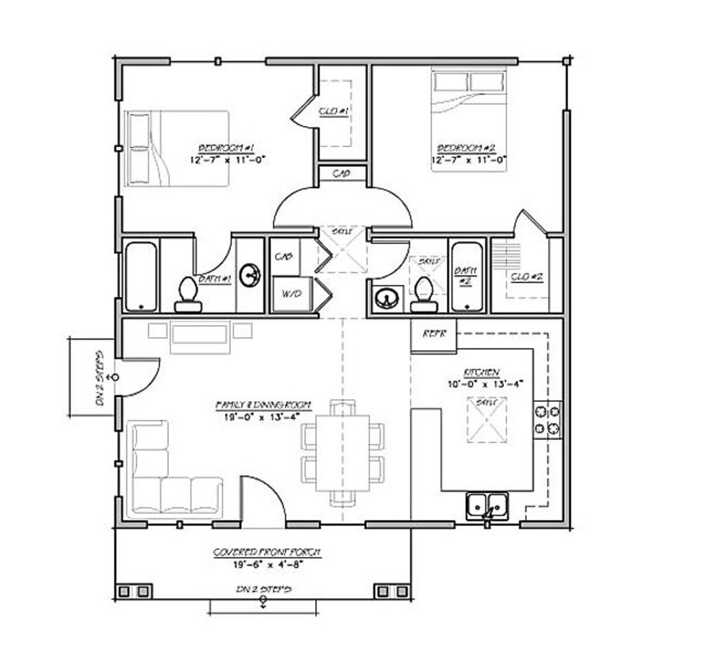 Best Craftsman Style House Plan 2 Beds 2 Baths 930 Sq Ft Plan With Pictures