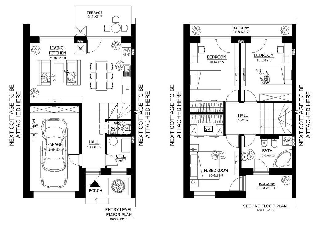 Best Modern Style House Plan 3 Beds 1 5 Baths 1000 Sq Ft Plan With Pictures