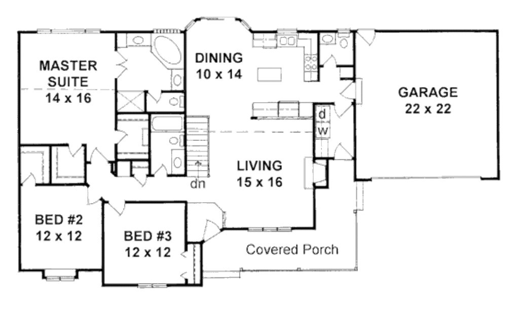 Best Ranch Style House Plan 3 Beds 2 5 Baths 1586 Sq Ft Plan 58 167 With Pictures