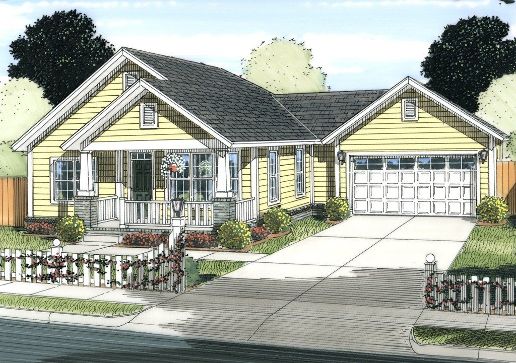 Best Cottage Style House Plan 2 Beds 2 Baths 1147 Sq Ft Plan With Pictures