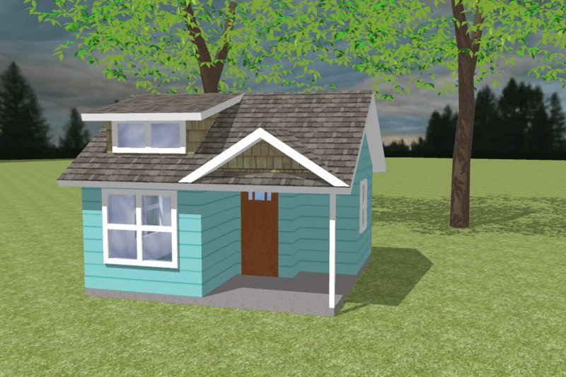 Best Bungalow Style House Plan 1 Beds 1 00 Baths 200 Sq Ft With Pictures
