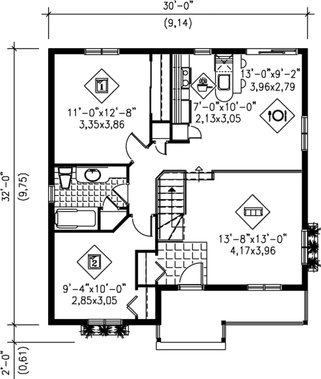 Best Cottage Style House Plan 2 Beds 1 00 Baths 892 Sq Ft Plan 25 130 With Pictures