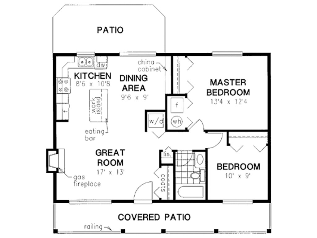 Best Cabin Style House Plan 2 Beds 1 Baths 900 Sq Ft Plan 18 327 With Pictures