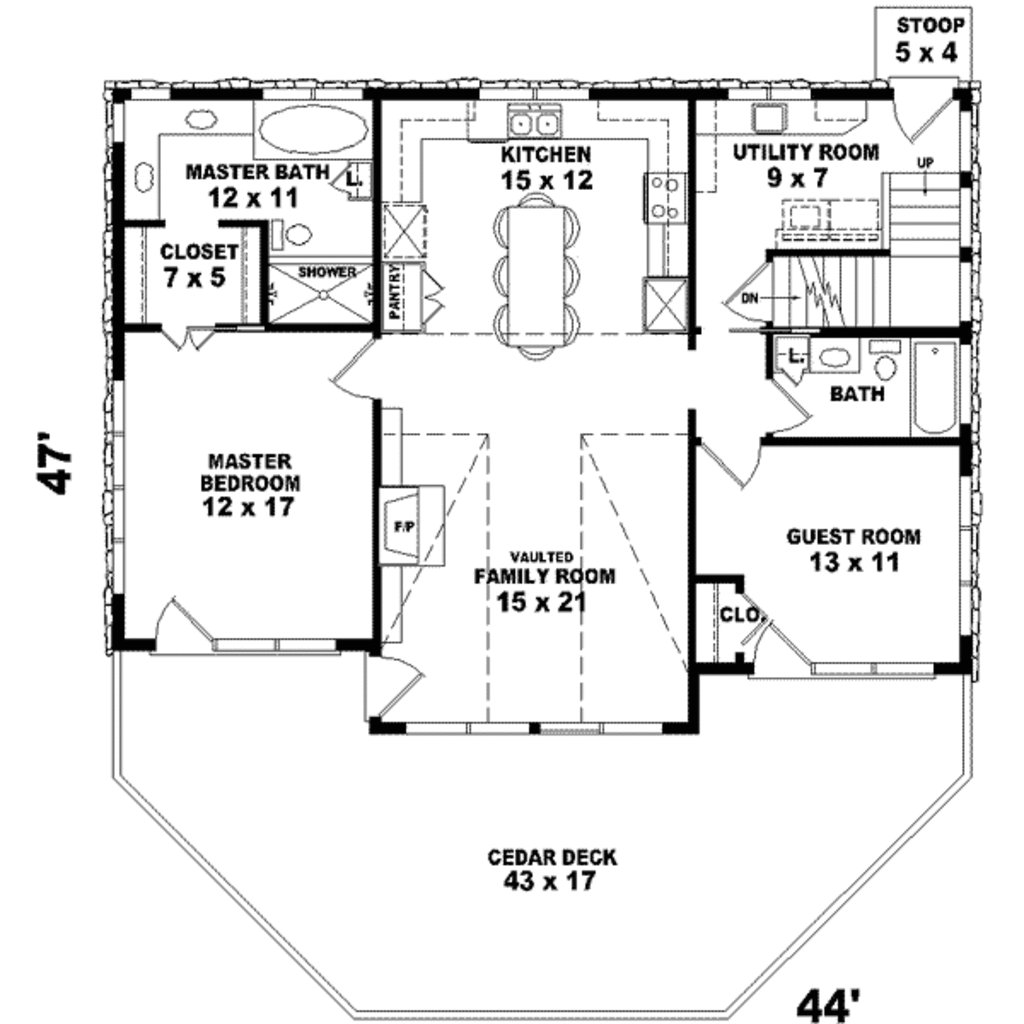 Best Country Style House Plan 2 Beds 2 00 Baths 1280 Sq Ft With Pictures