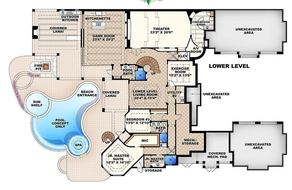 Best Mediterranean Style House Plan 6 Beds 7 50 Baths 11672 With Pictures