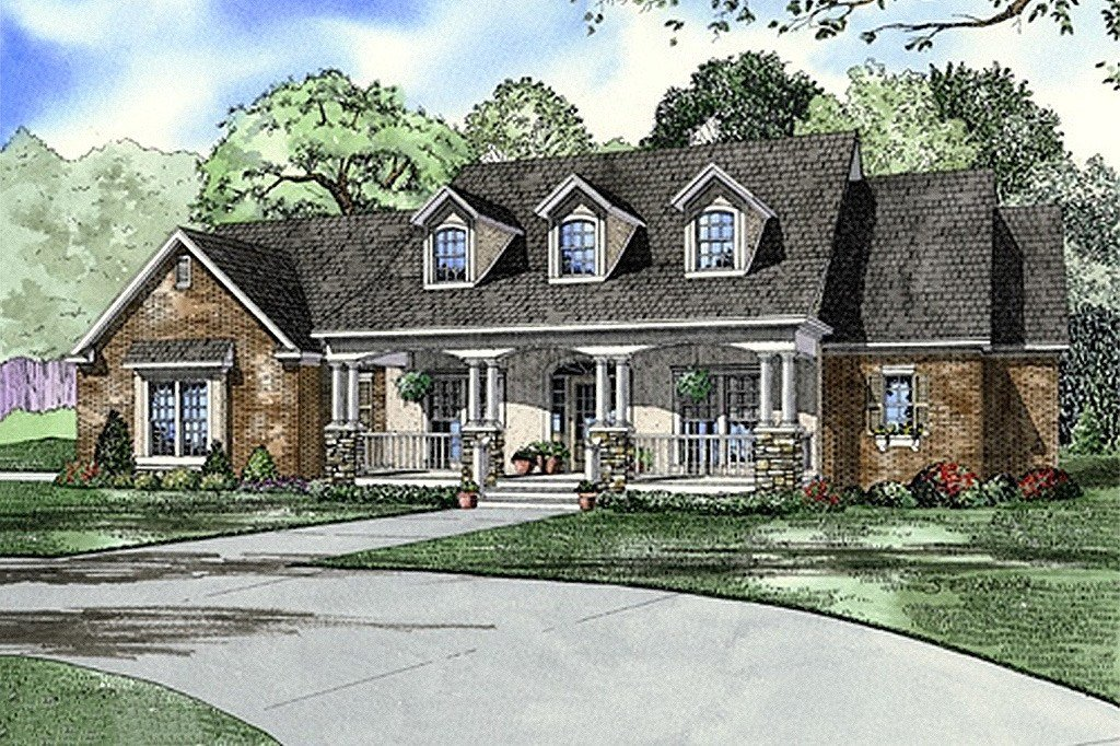 Best Southern Style House Plan 4 Beds 3 Baths 2373 Sq Ft Plan 17 2149 With Pictures