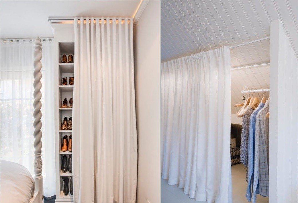 Best How To Reinvent Your Storage Areas With Closet Curtains With Pictures