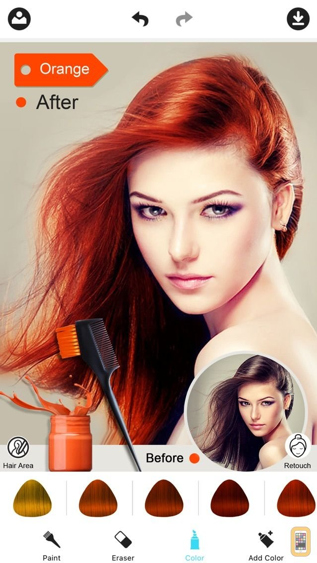 Free Hair Color Dye Switch Hairstyles Wig Photo Makeup For Wallpaper