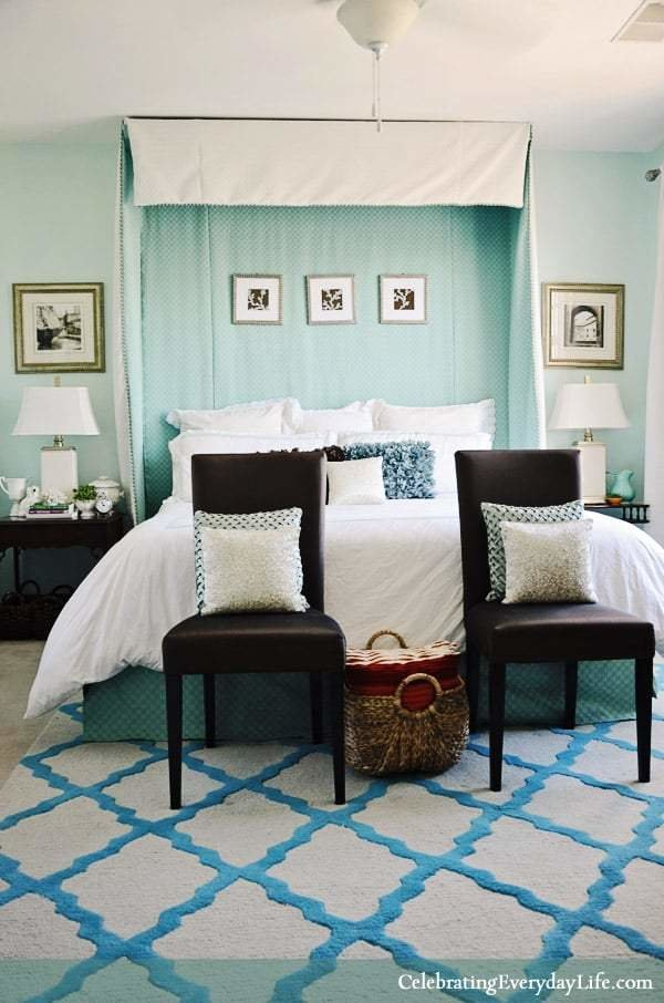 Best Home Tour My Turquoise And White Bedroom With Pictures