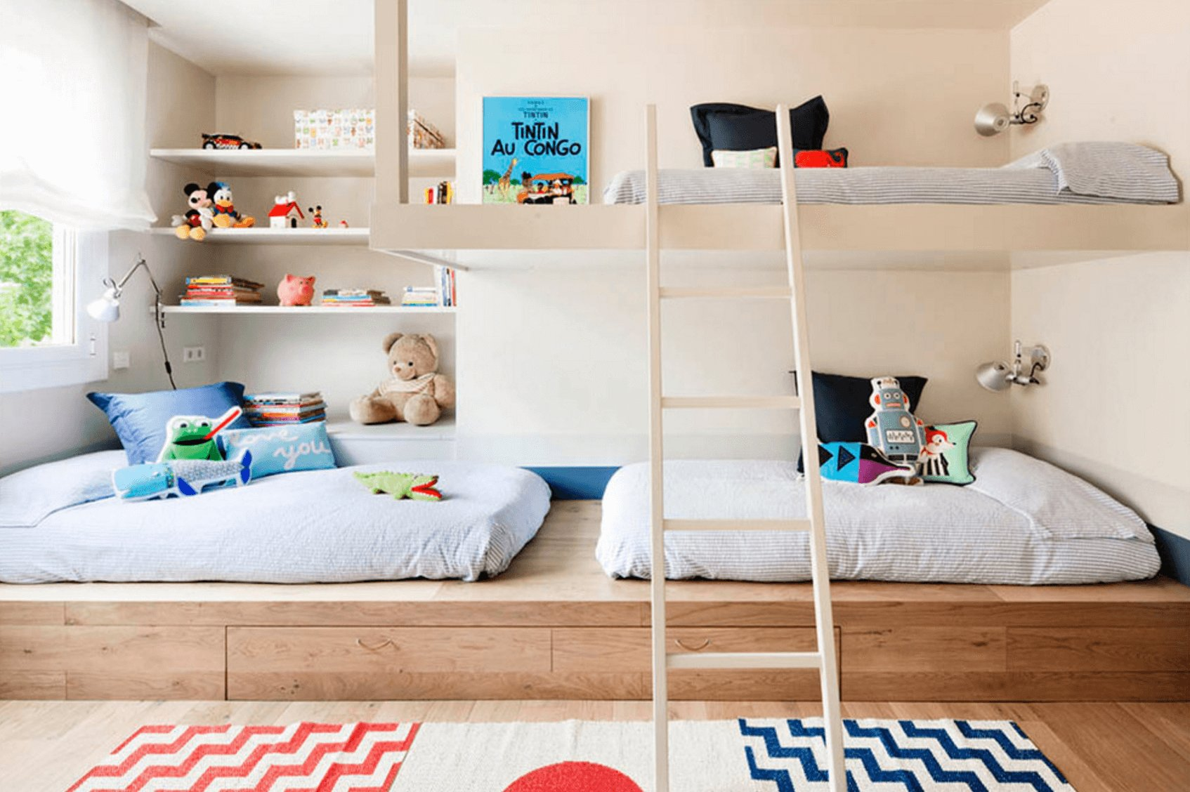 Best Creative Shared Bedroom Ideas For A Modern Kids Room With Pictures