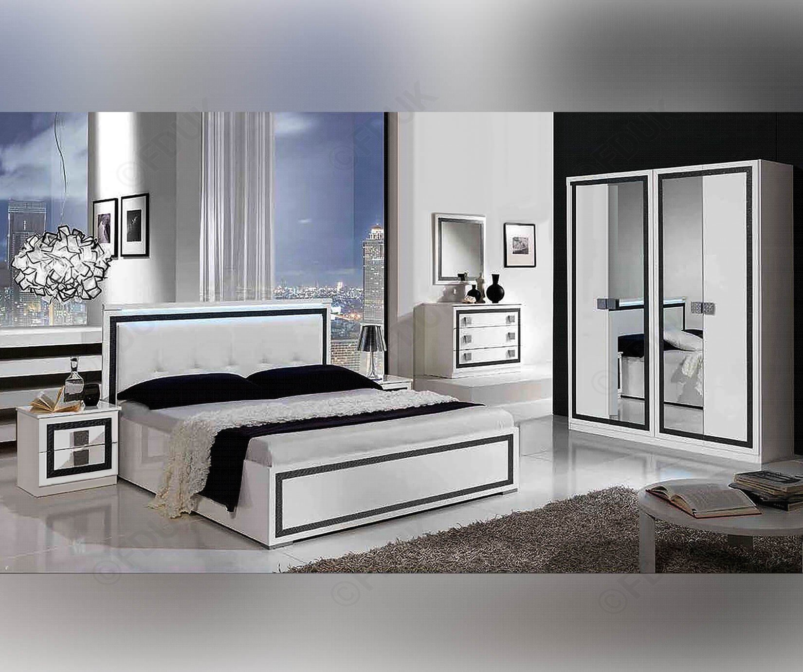 Best Mcs Thema Thema White Finish Italian Bedroom Set With Pictures