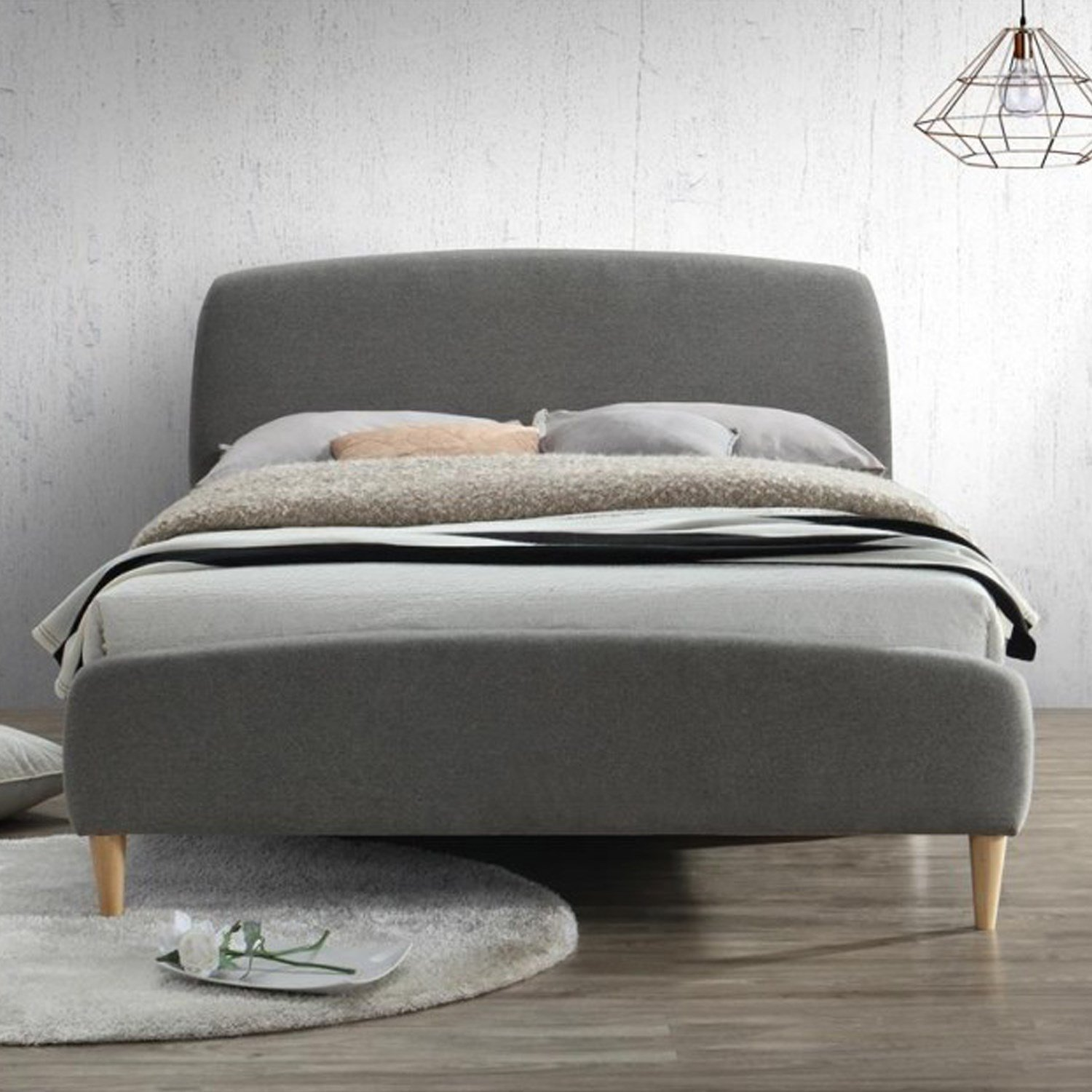Best Birlea Quebec Upholstered Grey Small Double Bed Furniture123 With Pictures