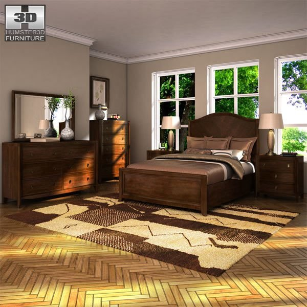 Best Ashley Ashlyn Sleigh Bedroom Set 3D Model Hum3D With Pictures