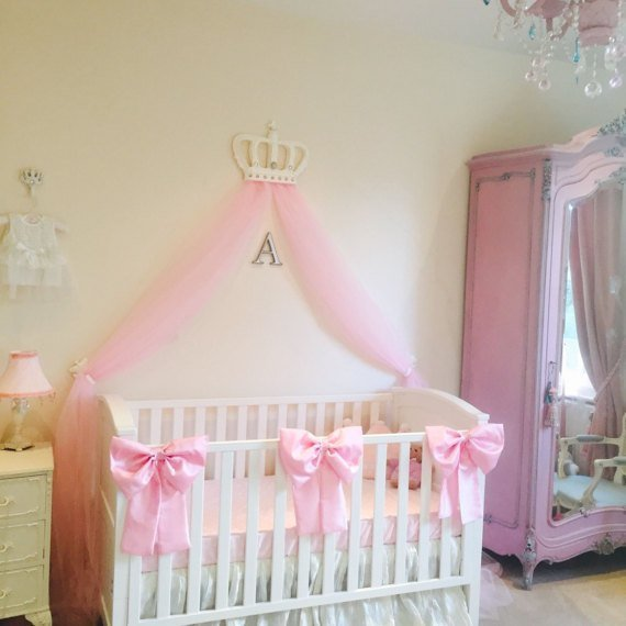 Best Beautiful Princess Crib Bows Neutral Baby Bedding Crib With Pictures