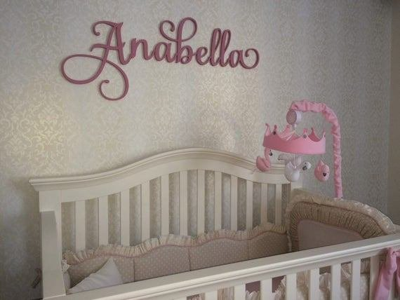 Best Wooden Name Sign Wall Hanging Letters For Nursery Or Bedroom With Pictures