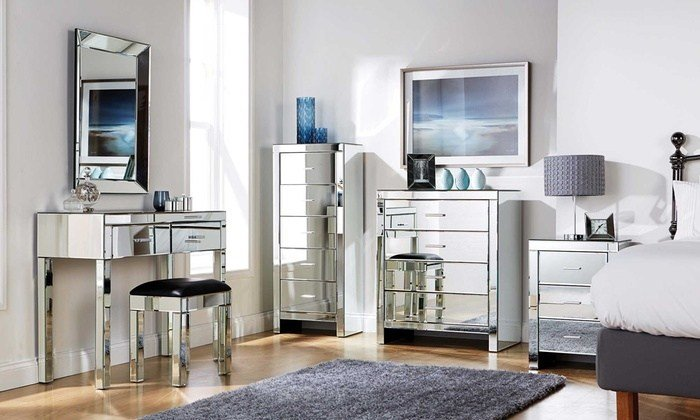 Best Mirrored Bedroom Furniture Groupon Goods With Pictures