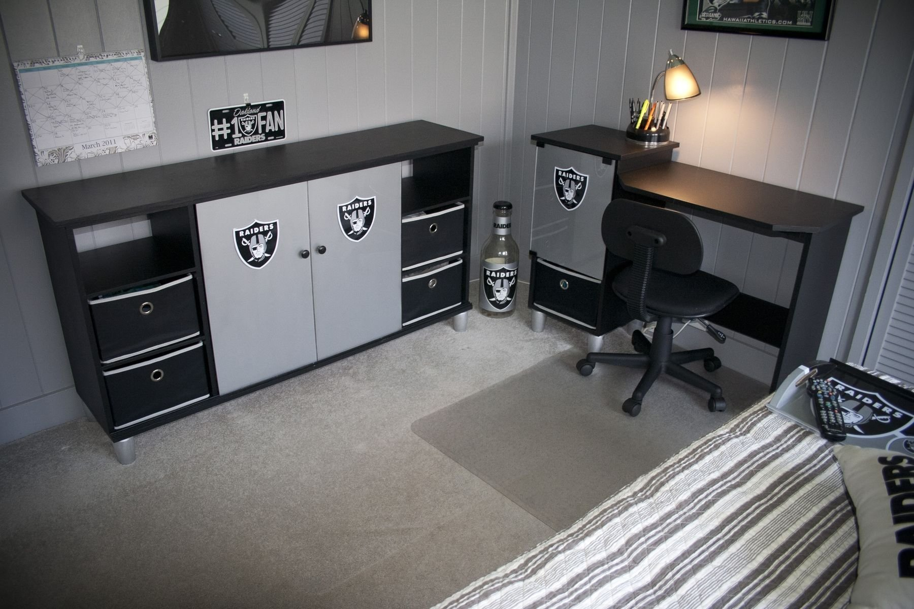 Best Handmade Raiders Desk Entertainment Center By Thinkjet With Pictures