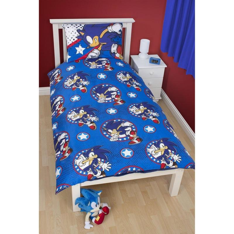 Best Childrens Sonic The Hedgehog Single Duvet Set With Pictures