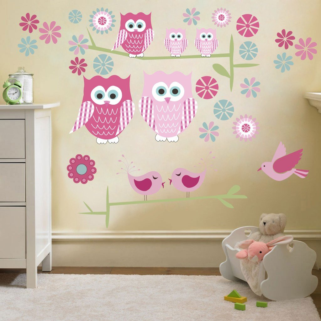 Best Childrens Cute Owls Twit Twoo Wall Stickers Decals Nursery With Pictures