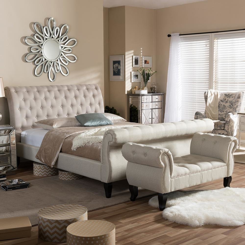 Best Baxton Studio Arran 2 Piece Beige King Bedroom Set 5202 With Pictures