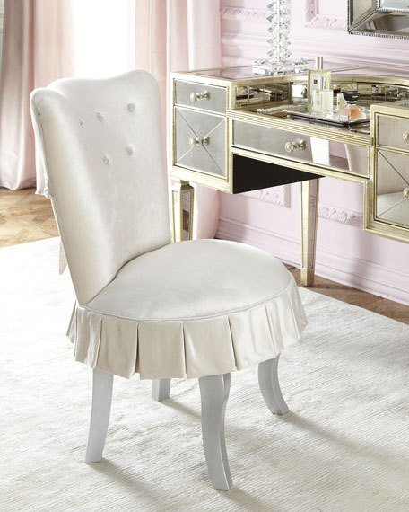 Best Haute House Shelly Vanity Chair Amelie Mirrored Vanity With Pictures