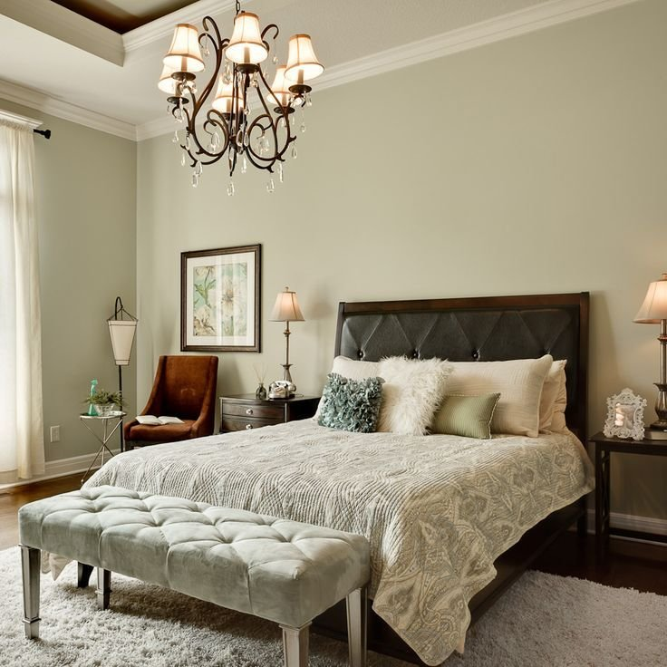 Best Sherwin Williams Contented Green In Master Bedroom With Pictures